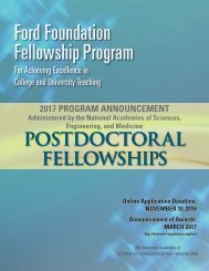 Ford Foundation Fellowship Program