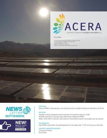 Newsletter ACERA Septiembre 2016