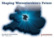 Shaping Worcestershire's Future