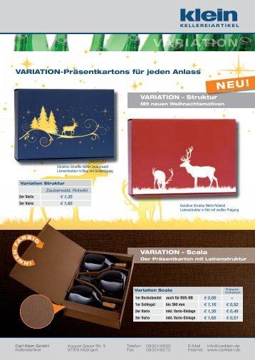 VARIATION-Präsentkartons für jeden Anlass - Carl Klein