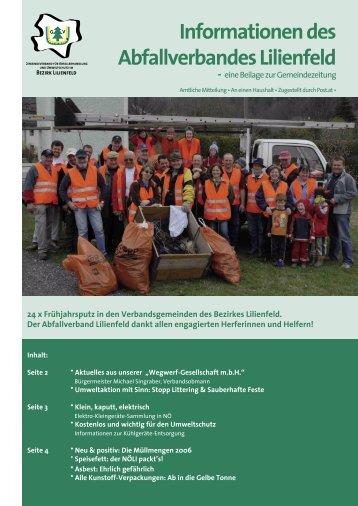 Informationen des Abfallverbandes Lilienfeld