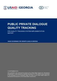 PUBLIC PRIVATE DIALOGUE QUALITY TRACKING