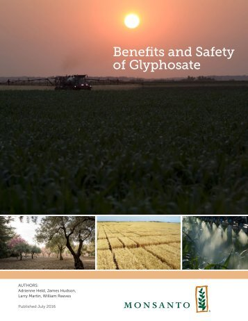Benefits and Safety of Glyphosate