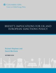 BREXIT'S IMPLICATIONS FOR UK AND EUROPEAN SANCTIONS POLICY