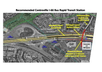 Recommended Centreville I-66 Bus Rapid Transit Station