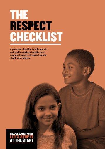 THE RESPECT CHECKLIST