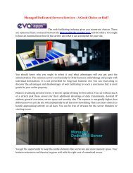 Managed Dedicated Servers Services - A Good Choice or Bad?