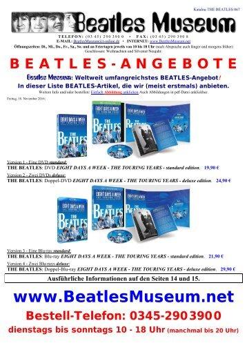 Beatles Museum - Katalog 67 mit Hyperlinks