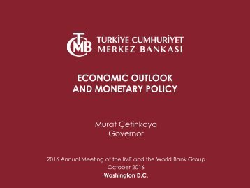 ECONOMIC OUTLOOK AND MONETARY POLICY