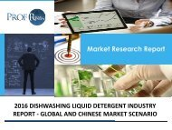 DISHWASHING LIQUID DETERGENT INDUSTRY REPORT