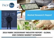 FABRIC DEODORANT INDUSTRY REPORT