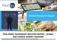 FABRIC DEODORANT INDUSTRY REPORT