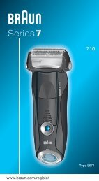 Braun 720, 730, 9565, 9566, 9781, 9782 - 710,  Series 7 Manual (DE, UK, FR, ES, PT, IT, NL, DK, NO, SE, FI, TR, GR)