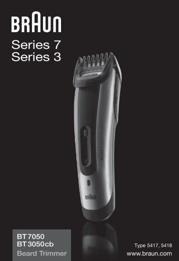 Braun cruZer5, Old Spice, BT 3050, BT 5010, BT 5030, BT 5050 - BT7050,  BT3050cb,  Beard trimmer,  Series 7 Manual (DE, UK, FR, ES, PT, IT, NL, DK, NO, SE, FI, TR, GR)