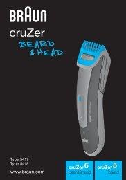 Braun cruZer5, Old Spice, BT 3050, BT 5010, BT 5030, BT 5050 - cruZer6 beard&head,  cruZer5 beard&head Manual (RO)