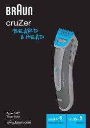 Braun cruZer6, BT 5070, BT 5090, BT 7050 - cruZer6 beard&head,  cruZer5 beard Manual (KOR,  UK)