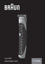 Braun PT 5090 - PT5090 Manual (USA)