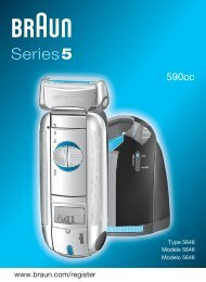 Braun 8995, 590cc - 590cc,  Series 5 Manual (UK, FR, ES (USA, CDN, MEX))