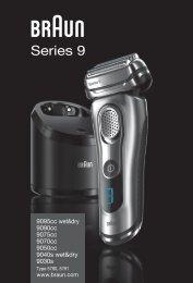 Braun 9040s, 9080cc, 9093s, 9095cc - 9095cc wet&dry,  9090cc,  9075cc,  9070cc,  9050cc,  9040s wet&dry,  9030s,  Series 9 Manual (DE, UK, FR, ES, PT, IT, NL, DK, NO, SE, FI, TR, GR)
