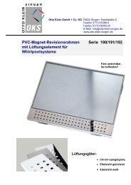 PVC-Magnet-Revisionsrahmen Serie 190/191 ... - Otto Klein Singen
