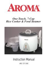 Aroma 7-Cup Pot-Style Rice CookerARC-727-1NG (ARC-727-1NG) - ARC-727-1NG Instruction Manual - 7-Cup Pot-Style Rice Cooker