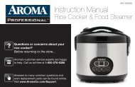 Aroma Professional 12-Cup (Cooked) Digital Cool-Touch Rice Cooker and Food SteamerARC-926SBD (ARC-926SBD) - ARC-926SBD Instruction Manual - Professional 12-Cup (Cooked) Digital Cool-Touch Rice Cooker and Food Steamer