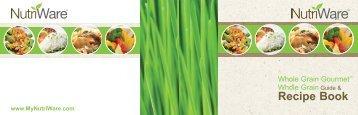 Aroma Whole Grain Gourmet™NRC-1000 (NRC-1000) - NRC-1000 Recipe Booklet - Whole Grain Gourmet™