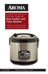 Aroma 10-Cup Sensor Logic™ Stainless Steel Rice CookerARC-960SB (ARC-960SB) - ARC-960SB Instruction Manual - 10-Cup Sensor Logic™ Stainless Steel Rice Cooker