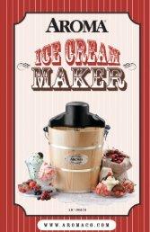 Aroma 6-Qt. Traditional Ice Cream makerAIC-206 (AIC-206) - AIC-206 Instruction Manual - 6-Qt. Traditional Ice Cream maker