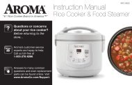 Aroma 12-Cup (Cooked) Digital Cool-Touch Rice Cooker/Food Steamer/Slow CookerARC-936D (ARC-936D) - ARC-936D Instruction Manual - 12-Cup (Cooked) Digital Cool-Touch Rice Cooker/Food Steamer/Slow Cooker