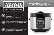 Aroma Aroma Professional 16-Cup (Cooked) Rice Cooker, Slow Cooker and Food SteamerARC-1208SB (ARC-1208SB) - ARC-1208SB Instruction Manual - Aroma Professional 16-Cup (Cooked) Rice Cooker, Slow Cooker and Food Steamer