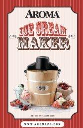 Aroma 4-Qt. Traditional Ice Cream MakerAIC-224 (AIC-224) - AIC-224 Instruction Manual - 4-Qt. Traditional Ice Cream Maker