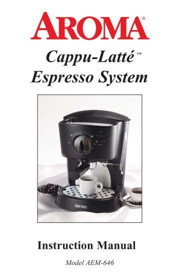 Barista Aroma Coffee Maker Manual : Gaggia Baby Twin Owner Manual - Espressotec