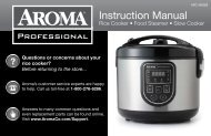 Aroma AROMA Professional 20-cup (Cooked) Digital Rice Cooker, Food Steamer & Slow CookerARC-980SB (ARC-980SB) - ARC-980SB Instruction Manual - AROMA Professional 20-cup (Cooked) Digital Rice Cooker, Food Steamer & Slow Cooker