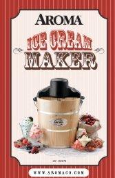 Aroma 4-Qt. Traditional Ice Cream MakerAIC-204EM (AIC-204EM) - AIC-204EM Instruction Manual - 4-Qt. Traditional Ice Cream Maker