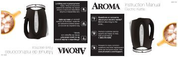 Aroma Aroma 7-Cup Electric Kettle AWK-108 (AWK-108) - AWK-108 Instruction Manual - Aroma 7-Cup Electric Kettle