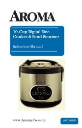 Aroma 10-Cup Cool-Touch Rice CookerARC-930SB (ARC-930SB) - ARC-930SB Instruction Manual - 10-Cup Cool-Touch Rice Cooker