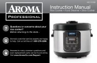 Aroma Aroma Professional 20-Cup (Cooked) Rice Cooker, Slow Cooker and Food SteamerARC-1310SB (ARC-1310SB) - ARC-1310SB Instruction Manual - Aroma Professional 20-Cup (Cooked) Rice Cooker, Slow Cooker and Food Steamer