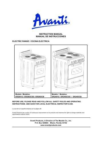 convection oven broiler instruction manual horno avanti products rh yumpu com avanti grande service manual avanti grande service manual