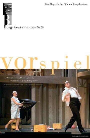 Susanne, wir sind auf der Bühne. Susanne: Na und? - Burgtheater