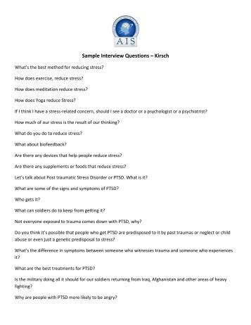 Technical Writer  Sample Interview Questions