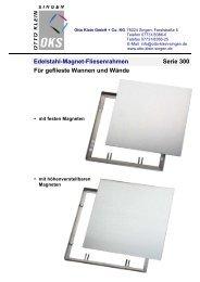 Edelstahl-Magnet-Fliesenrahmen Serie 300 Für ... - Otto Klein Singen
