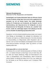 Presse-Information Nummer 15-20-1109 - Siemens