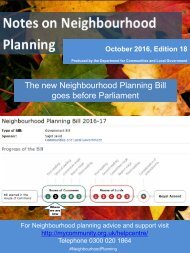 The new Neighbourhood Planning Bill goes before Parliament