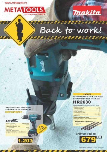 Makita Back to Work 2016