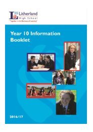 LHS Year 10 Info Booklet