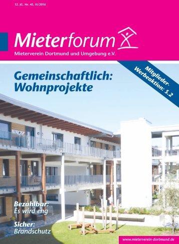 Mieterforum Dortmund - Ausgabe III/2016 (Nr. 45)