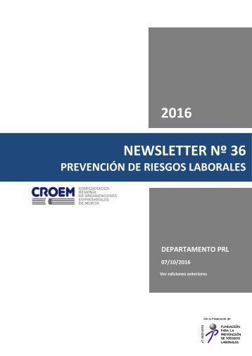 2016 NEWSLETTER Nº 36