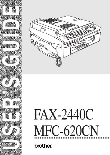 Brother FAX-2440C - User's Guide