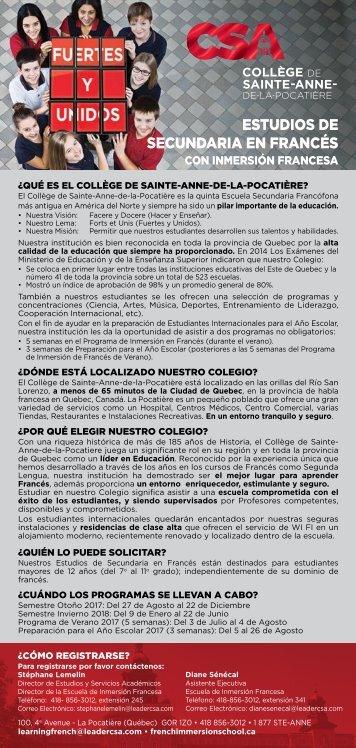 CSA Encartes 2017-2018
